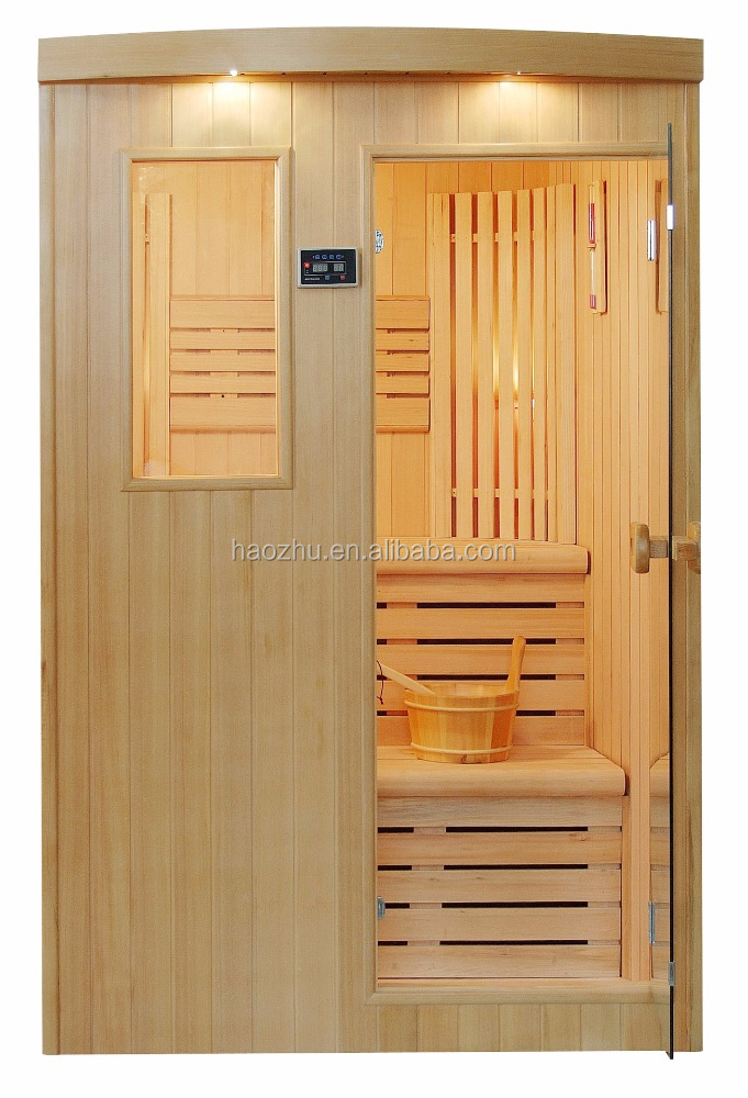 Steam sauna room in wood material/infrared sauna for 1-5people