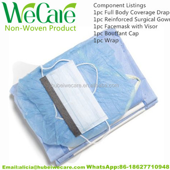 Sterile Disposable Surgery Pack Surgical Seinforced Gown Kit