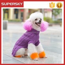 C590 hot sale customized size and pattern knit dog sweater dog Sweater clothes for teddy,poodle,chihuahua clothes