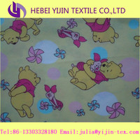 cotton printed double side brushed fabric for children animal design