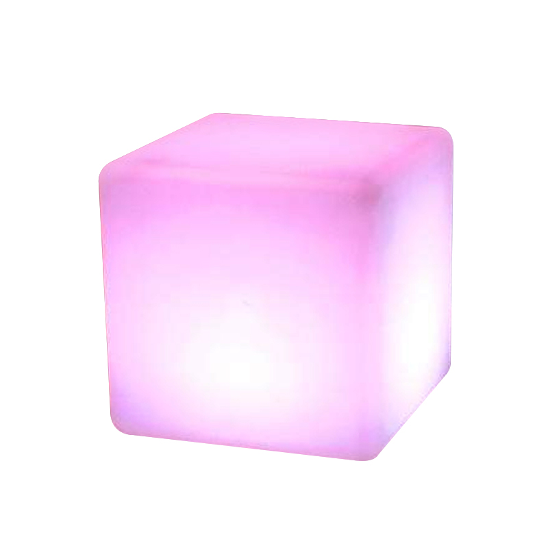 waterproof plastic LED lighting cube tables and chairs / color change LED magic cube