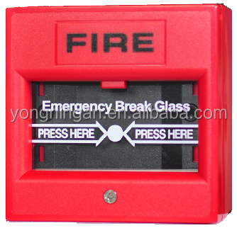 Fire Equipment 220V Break Glass Unit Manual Fire Alarm Call Point