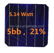 Germany solar world 21% efficiency A Grade over 5.14W 5BB Monocrystalline solar cell made in Germany new solar cell