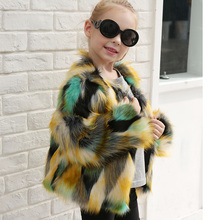 2017 new out child clothing lovely candy color baby faux fur jacket high quality fur coat for kids