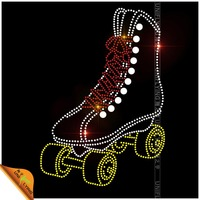 Custom roller skate shoes rhinestone transfers iron on tee