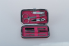 cute mini manicure set 6pcs personal nail care tool in imitation leather pouch
