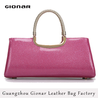 Wholesale Custom Lady Patent Tote Bag Handbag OEM/ODM Bag Factory