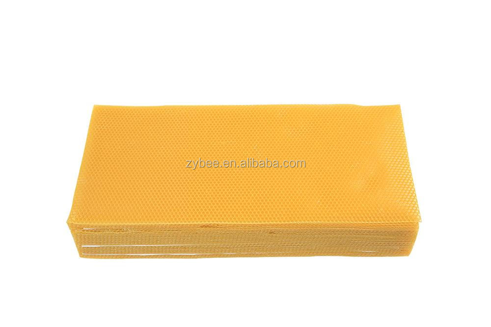 Pure natural beeswax comb foundation sheet
