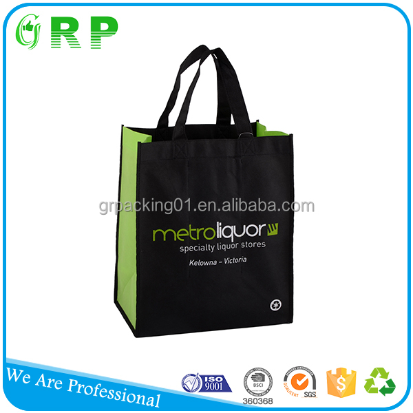 China supplier wholesale eco friendly wine setting non-woven bottle bag