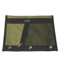 nylon pencil pouch binder pouch with net pocket