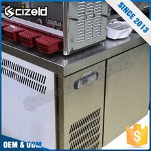 New Arrival Product Restaurant Drawer Small Silver Fridge Freezer