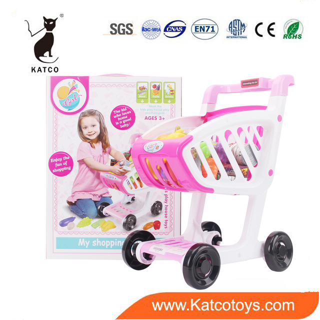Christmas Gift New Style Kitchen Play Toys Shopping Trolley Cart For Kids