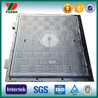 600*600 mm cast iron and ductile iron square manhole covers d400