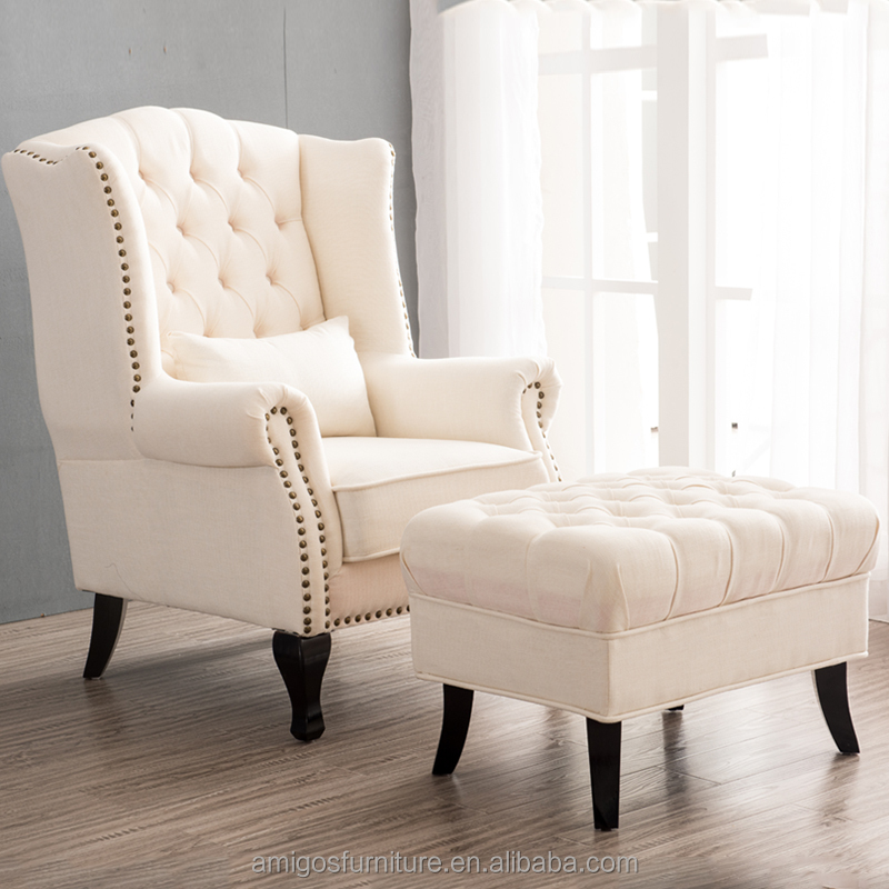 French Style Wingback Chair Wing Lounge Sofa Mahogany Armchair, View  Antique English Style Home Furniture Armchair, AMIGOS Product Details From  Foshan ...