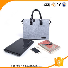 Fashion felt laptop computer business bag,wholesale felt messenger bag,men office business 15 inch felt laptop bag