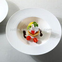 hotel used good quality dessert plate white ceramic porcelain buffet dinner plate dish
