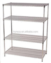 Durable 4 tiers stainless steel storage <strong>shelves</strong> rack small metal <strong>shelf</strong>