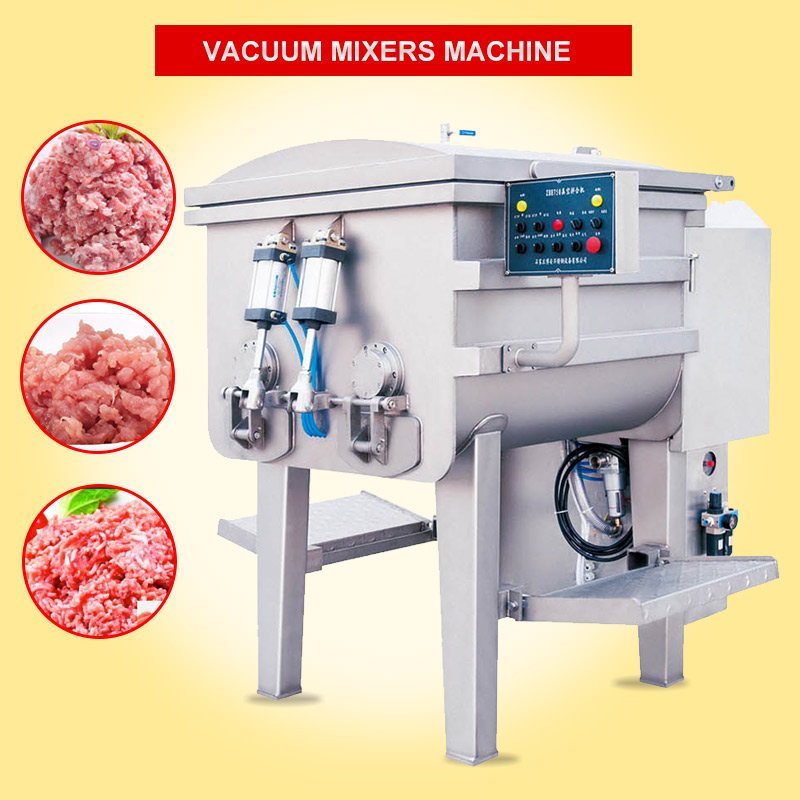 full automatic electric industrial commercial 650L vacuum chopper sausage used meat Mixers grinder Machine Equipment for sale