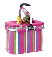 Fashion delivery picnic food warmer bag for shopping and promotiom