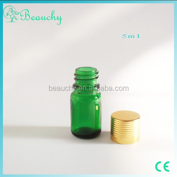 2014 new product 5-100ml liquid medicine green glass bottles with screw cap for pill