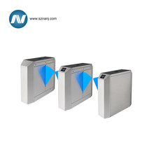 building management system security retractable flap turnstile barrier gate