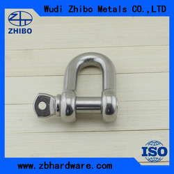 Export grade Stainless steel US type Dee shackle G210 from China