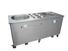 double flat pan freezing fried rolling ice cream machine BQF217P