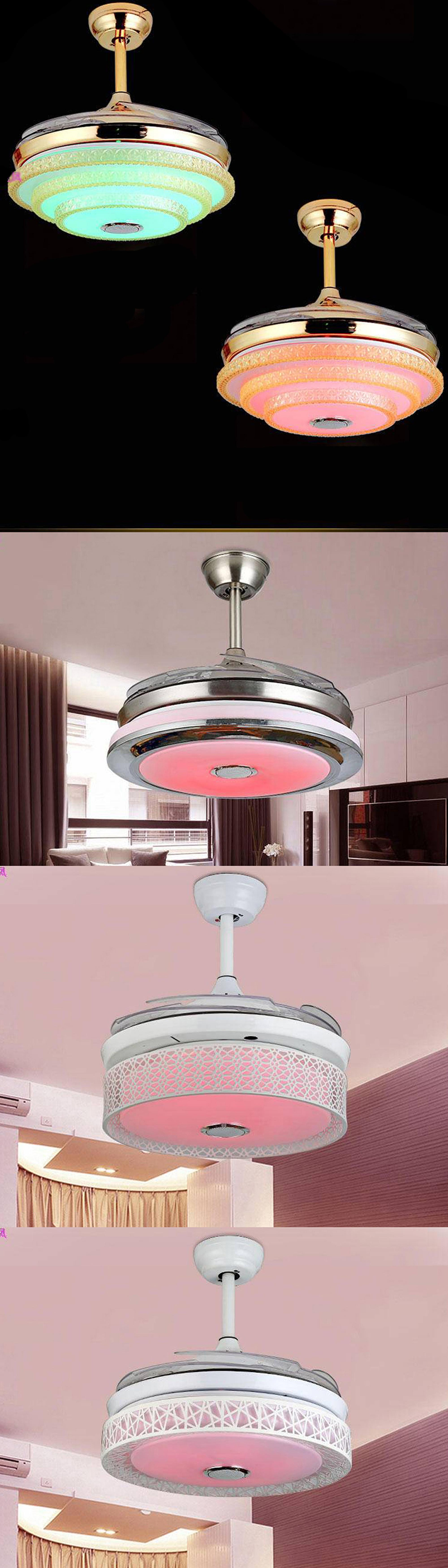 Smart android phone APP wireless Bluetooth Control ceiling fan music electric fan