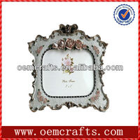Beautiful Resin White Flower Ornate Custom Photo Picture Frame