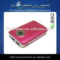 2012 new style consumer electronic gift for 6600mah portable powerbank