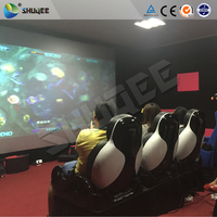 Funny Mobile 7D cinema hydraulic electronic control system with shooting system