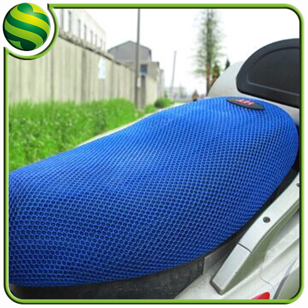 China manufacturer directory hot sale 3d air polyester mesh fabric motorcycle seat cover