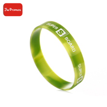 New popular product colorful amazing gift event swirl silicone bracelet wristband