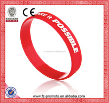 2016 Hot Sale Silicone Wristband with Competitive Price Silicone Wristbands, Debossed Bracelet, Rubber Wristands