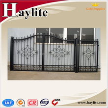 Modern garden fence metal door wrought iron sliding gate designs