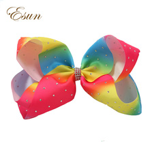 charming double stacked baby girls cute rainbow hair bows