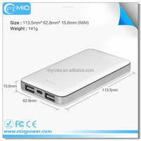 MIQ 6000mah slim portable phone charger high efficiency mobile charger power bank charger
