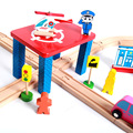 Wholesale wooden train track toy , funny wooden train track toy for kid