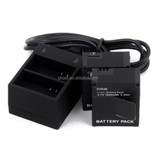 for GoPro Battery Go Pro Accessories 2 Pcs for GoPro Hero 3 Batteries 3.7V Li-ion With Dual Charger for GoPro Hero3/3+