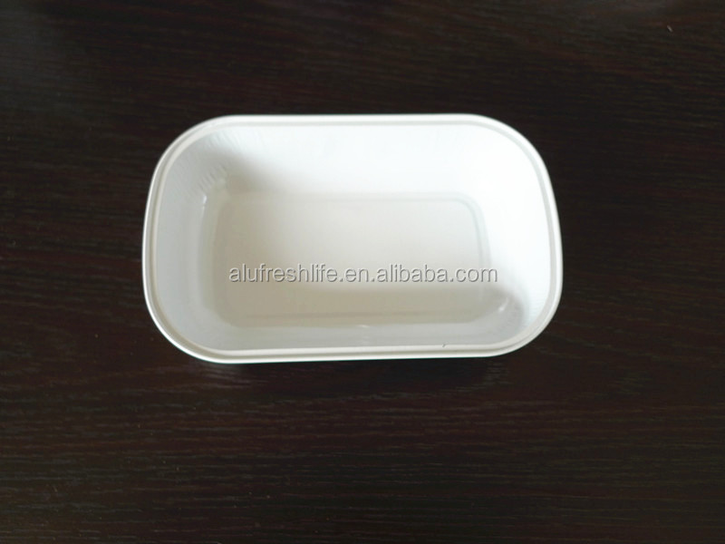 smooth wall coated aluminum foil food container