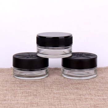 50g 60ml 2 0z eye cream glass jar for glass cosmetic jar with plastic childproof safety lid