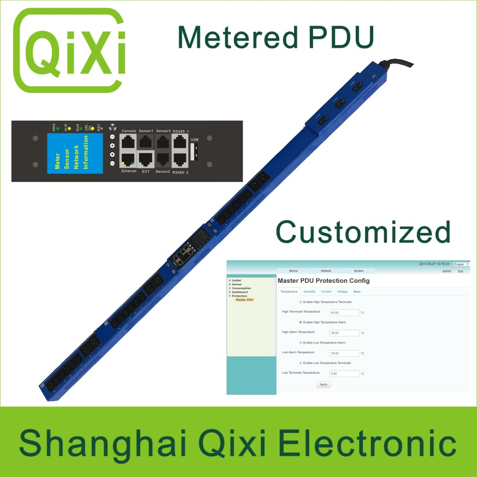 Data Center Intelligent IP monitored PDU