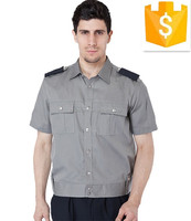 mens workwear security guards uniform shirt short sleeves custom design and logo