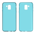 clear Transparent soft mobile phone case for Samsung J600 tpu back cover
