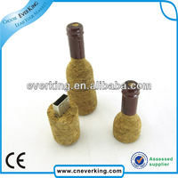 wholesale wine bottle shape usb memory stick with good quality