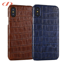 OEM crocodile embossed leather mobile phone case for iphone leather case,leather for iphone case X