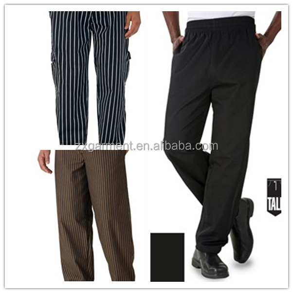 ZX OEM Custom 2018 Baggy Chef Pants For Men Outdoor Print Chef Pants