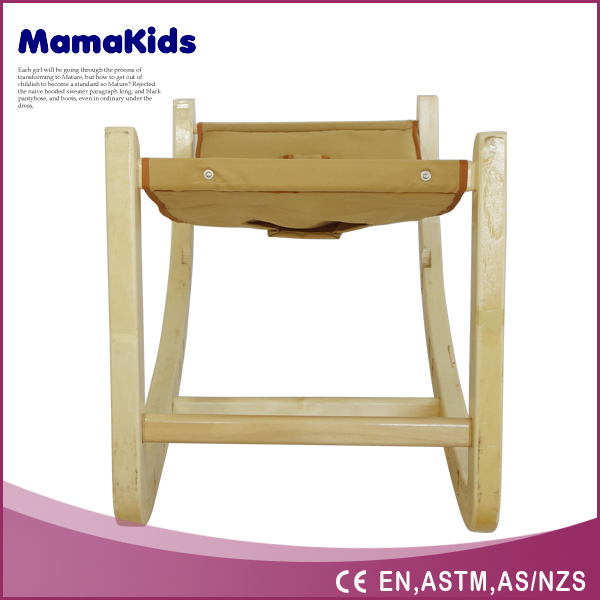 Hot swing chair wooden baby high chair indoor swing chair with stand