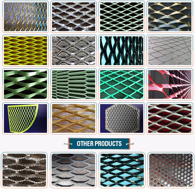 Best price decorative aluminum expanded metal mesh panels for gates