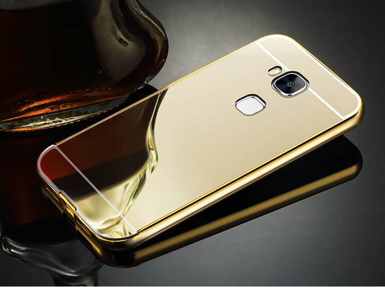 Wholesale Luxury Ultra-thin Waterproof Hybrid Aluminum Metal Electroplating Mirror Mobile Phone Case for huawei honor 5c